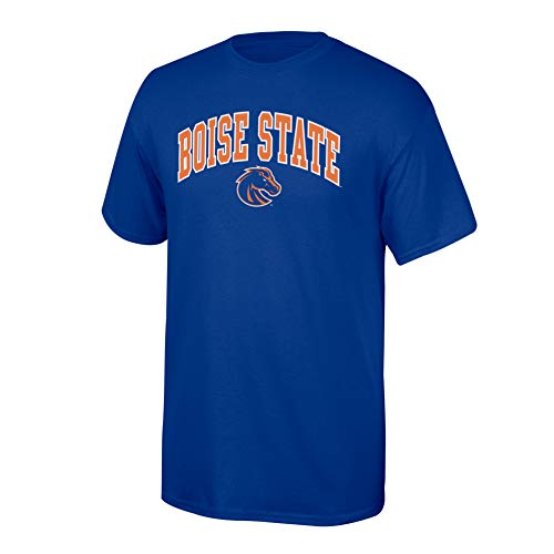 Elite Fan Shop NCAA Boise State Broncos Mens NCAA T Shirt Team Color ArchNCAA T Shirt Team Color Arch, Royal, Large