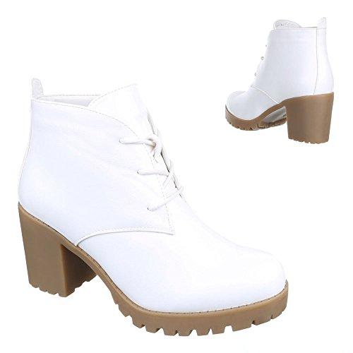 Ital-Design - Botas Militar Mujer blanco