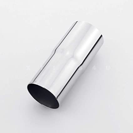 """2/"""" ID to 2.5/"""" OD Exhaust Pipe Tip Adapter Reducer Connector Stainless Steel"""