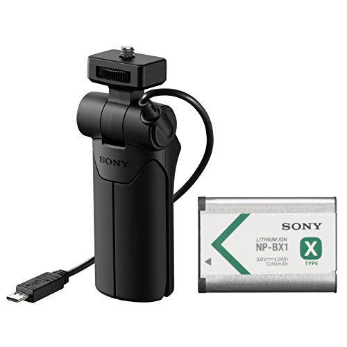 Sony VCT-SGR1 Shooting Grip and Tripod for Compact Cameras with Genuine Sony NPBX1/M8 Battery Pack