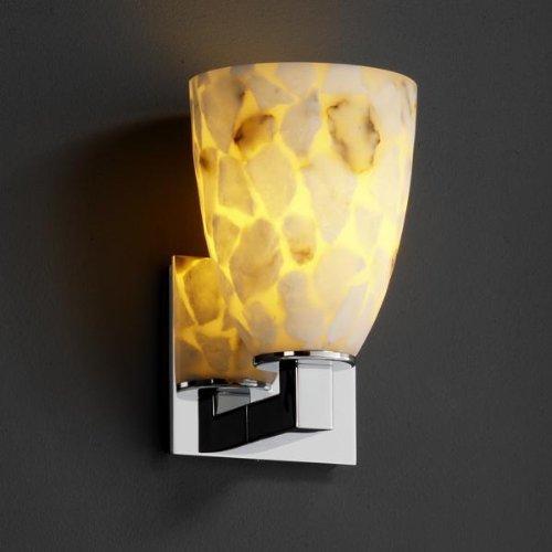 Justice Design ALR-8921-18-BLKN Alabaster Rocks - One Light Modular Wall Sconce, Choose Finish: Black Nickel Finish, Choose Lamping Option: Standard Lamping