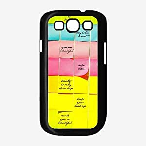 Inspirational Notes Plastic Phone Case Back Cover Samsung Galaxy S3 I9300