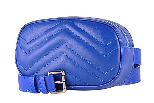 de Sac Made Femme Véritable taille FLORA Italy 100 Ceinture Électrique BORDERLINE Bleu avec Cuir en in UTrdwT