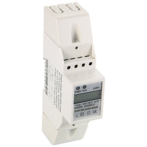 BAYM 5(80)A 120V 60HZ Single Phase Din Rail KWH Watt Hour Din-rail Energy Meter LCD KWH 80A