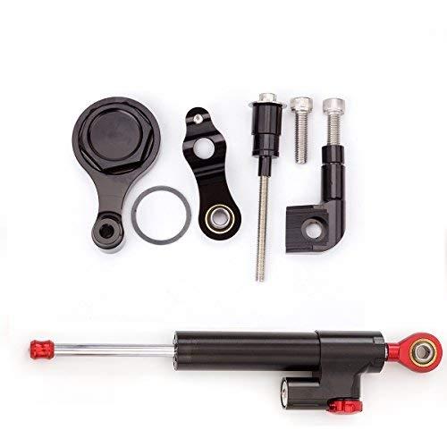 Motorrad Lenkung D/ämpfer Stabilisator Halterung Montage F/ür Yamaha YZF R6 2006-2015 Aluminium Black/&Red