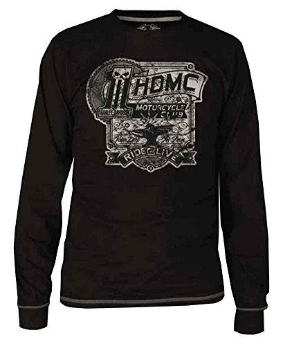 Harley-Davidson Men's Blk Label Iron Made Long Sleeve Shirt - Blk 30291734 (3XL)