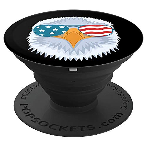 - USA Flag Bald Eagle Sunglasses 4th of July Outfit Men Kids PopSockets Grip and Stand for Phones and Tablets