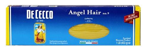 De Cecco 9 Angel Hair Pasta -- 16 oz - 2 pc