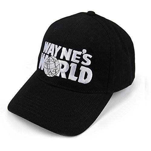 5094e5944e6de Wayne s Embroidered Trucker Unisex Adult Adjustable Black Baseball Hat Cap