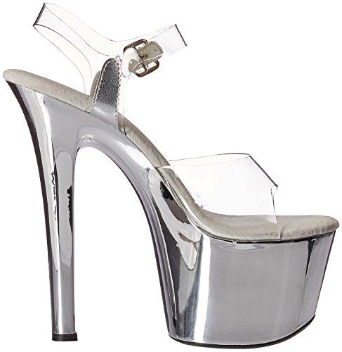 Ellie Shoes E-711-Chrome, 7