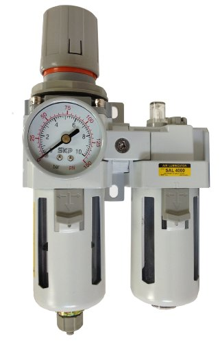 PneumaticPlus SAU4010M-N04BG Two Piece Filter Regulator Lubricator Combination 1/2
