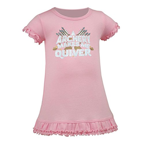 inktastic Archery Makes Me Quiver A-Line Baby Dress 12 Months Baby Pink 2f4ed
