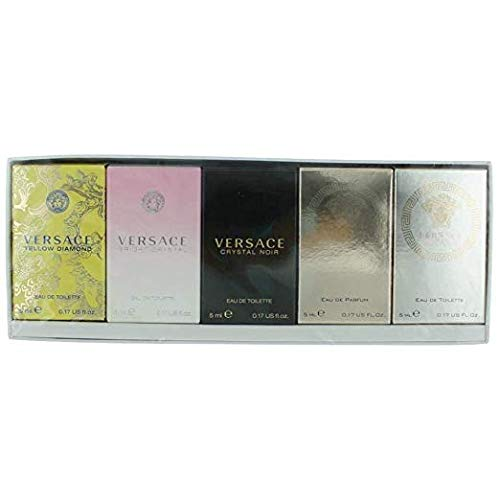 (Versace Miniature Variety Collection 5 Piece Mini Set for Women)