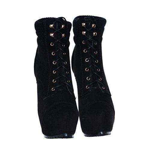 Women's Heels Almond Blackbk18 Toe Knee Boots Stiletto Dress high rU5nRWrq