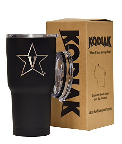 Price comparison product image Vanderbilt Commodores 30 oz (Black) NCAA Engraved Vacuum Insulated Tumbler Two Lids Kodiak Coolers - Stainless Steel Double Wall - Thermal Coffee Travel Cup Rambler Mug Yeti - Ice Over 24 Hours