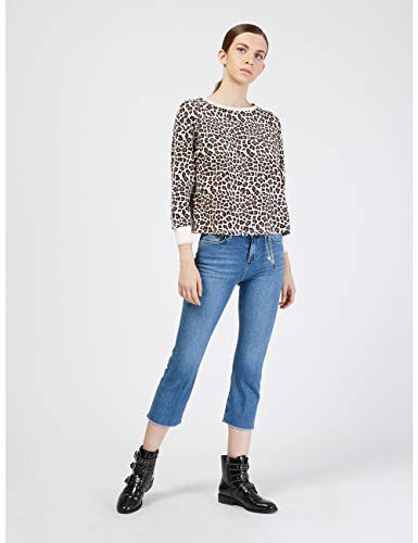 italian Jeans Size Cropped Kick Motivi Blu Flare O4xZgOqP