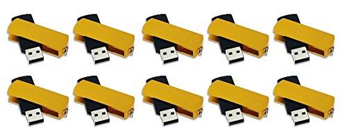 FEBNISCTE 100 Pack 512MB Pendrive Gold Swivel Cheap Bulk USB 2.0 Memory Stick by FEBNISCTE (Image #4)