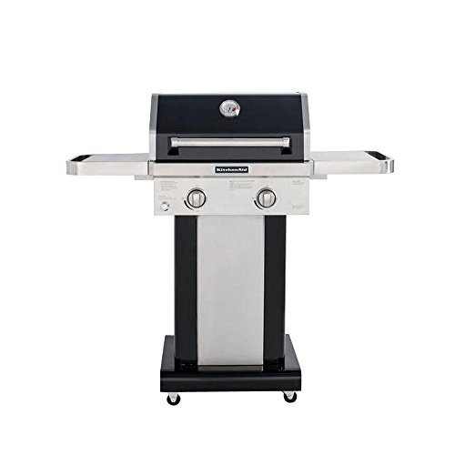Captivating KitchenAid 720 0891B 2 Burner Propane Gas Grill In Black With Grill Cover