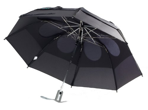 GustBuster Metro Automatic Folding Umbrella Windproof, Compact & Portable 43-Inch with (Black)