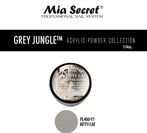 Mia Secret Acrylic Powder - Grey Jungle 6pcs OR Single JAR - 2018 Collection! (Kitty CAT)