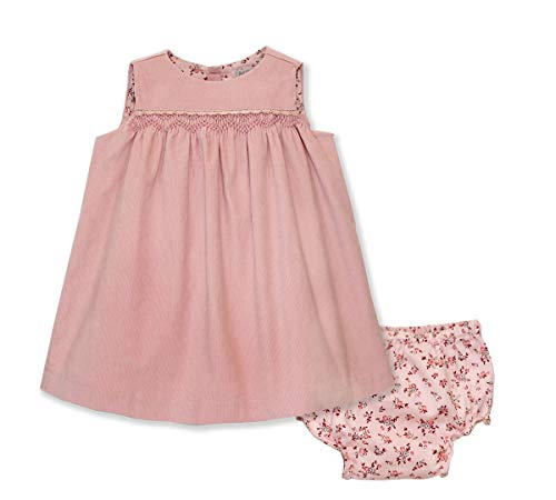 Phlona Little Girl's Corduroy Smocked Sleeveless Dress -