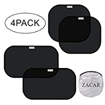 ZACAR Car Window Shade ( 4 Pack ) ,2 Pack 20x12 and 2 Pack 17x14 for side window,Cling Sunshade For Car Windows Protect your baby in the back seat from sun glare and heat. Blocks over 99% of harmful UV