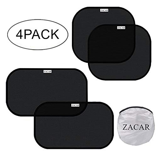 k),ZACAR Cling Car Window shade for Baby ,Car Sunshade Protector,80 GSM Protect your baby in the back seat from sun glare and heat,2 Pack 20