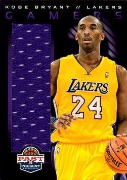 2012 - 13 Panini Past and Present Relics #24 Kobe Bryant Game Worn Jersey Basketball Card - Purple Jersey Swatch ()