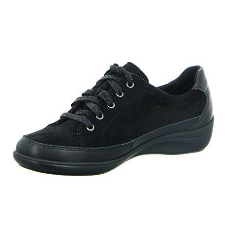 LONGO Chaussures ville femme lacets Noir à pour de 1005670 rtF5vqxr