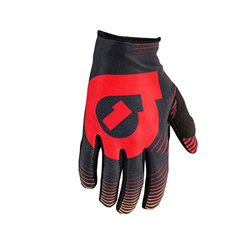 Six Six One Comp Vortex Gloves - Kids' Black/Red, L