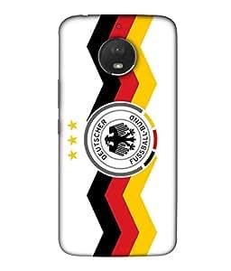 ColorKing Football Germany 26 White shell case cover for Motorola Moto E4 Plus