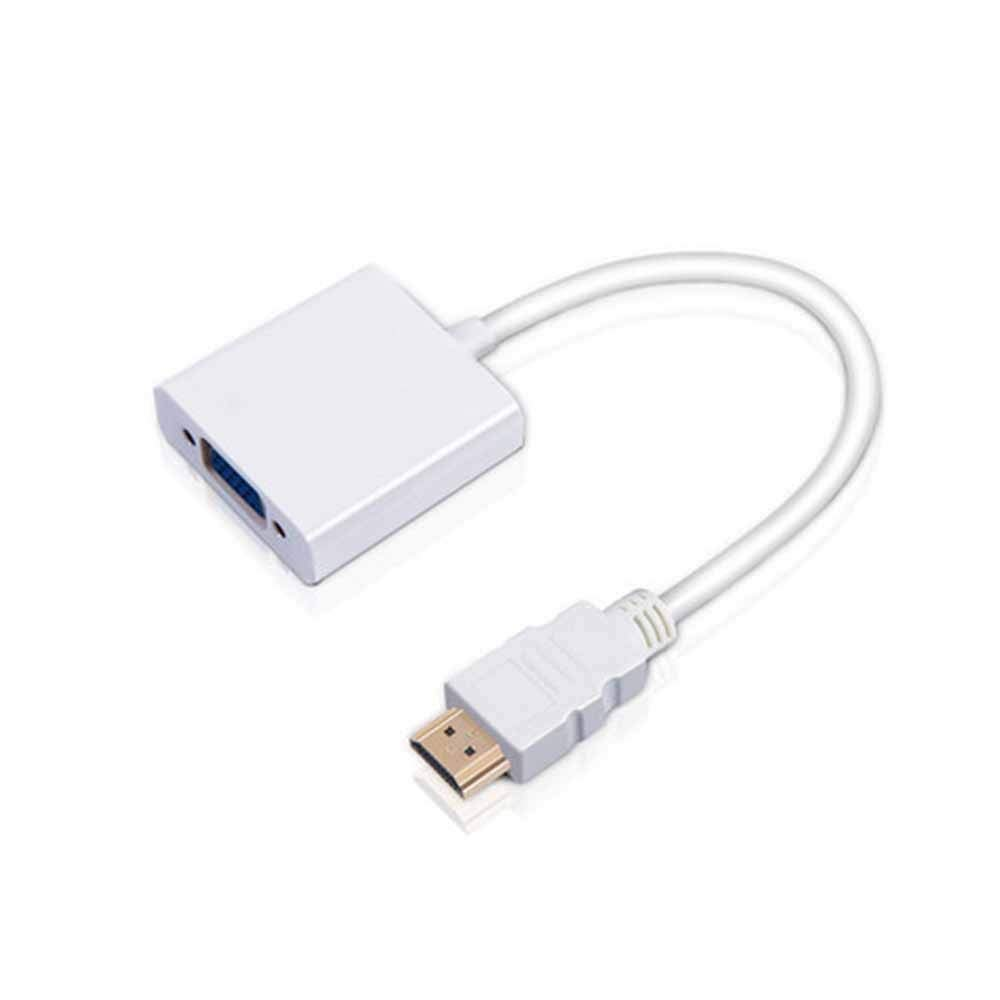 Fengshangshanghang HDMI to VGA Adapter, Laptop Connected to The Projector HD Video Cable Adapter, Strong Shielding, Easy to Use (Color : White)