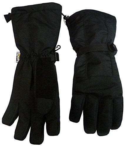 N'Ice Caps Women's Extreme Cold Weather Premier Snowboard Glove with Long Cuff (S/M, Black) - Black Womens Snowboard Glove