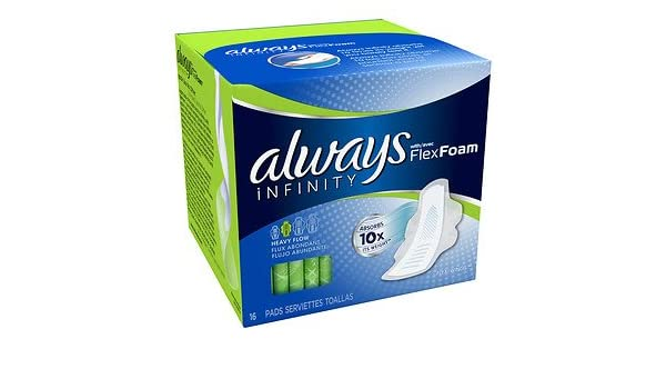 Amazon.com: Always Infinity Heavy Flow Flexi-Wings Pads - 16 Ea, by Always: Health & Personal Care