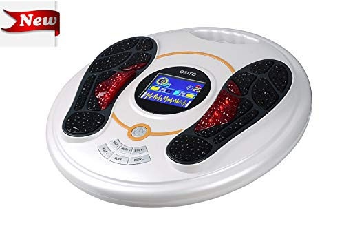 EMS Foot Massager- EMS & TENS Muscle Stimulator, Foot Circulator, Improves Circulation, Relax Stiffness Muscles, Relieve Feet and Legs Pain