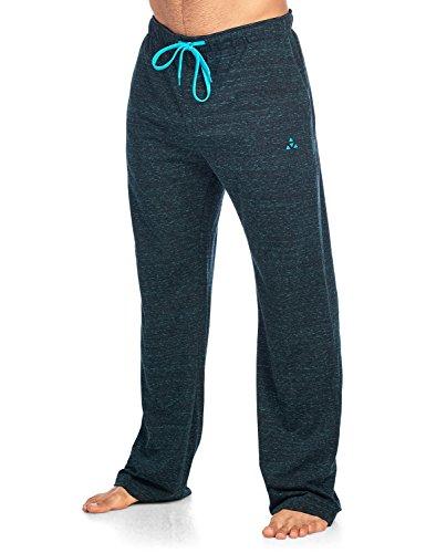 - Balanced Tech Men's Jersey Knit Lounge Sleep Pants - Black/Teal Multi Speckle - Medium/M