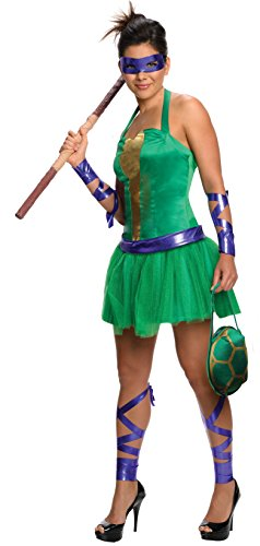 Secret Wishes  Costume Teenage Mutant Ninja Turtles Donatello Adult Female, Green, Medium (Female Ninja Turtles)
