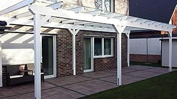 Luxbach GmbH - Cubierta para terraza, 500 x 500 cm / 5 x 5 m, madera de pérgola BSH, planchas alveolares de 16 mm, transparente: Amazon.es: Jardín
