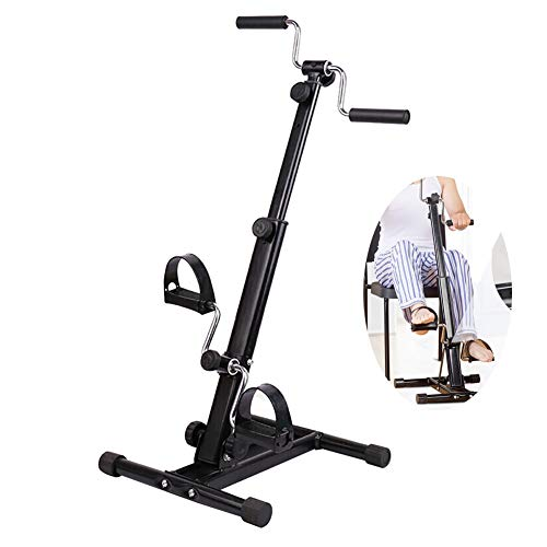 Denshine Pedal Exerciser, Exercise Bike Stationary, Adjustable Resistance Arm Leg Indoor Fitness Training Machine,Stroke Rehabilitation Equipment Upper and Lower Extremity Physiotherapy