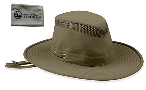 Tilley LTM6 Airflo Hat with Mesh Bundle with Cloth (7 5/8, Olive)