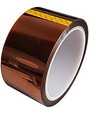 UEETEK Per stampante 3D ad alta temperatura resistente al calore nastro Polyimide Film nastro adesivo 33M Lunghezza 50 MM larghezza del nastro