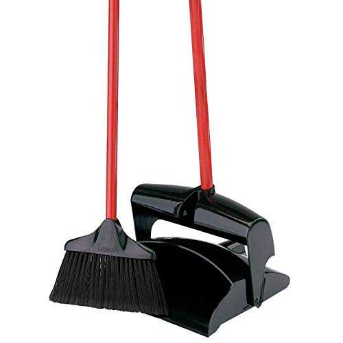 libman commercial 919 lobby dust pan and broom set open lid black red pack of 2 buy. Black Bedroom Furniture Sets. Home Design Ideas