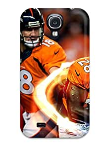 Durable Defender Case For Galaxy S4 Tpu Cover(denverroncos P )