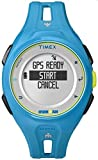 Timex Unisex TW5K87600 Ironman Run x20 GPS Full-Size Bright Blue Resin Strap Watch