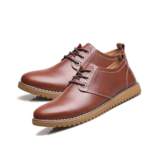 Uomo Business Casual Canvas Estate Soft Brown Punta Colore Sport Scarpe Ribbon A Round Inverno da Primavera Autunno zmlsc IwH4t5xnq