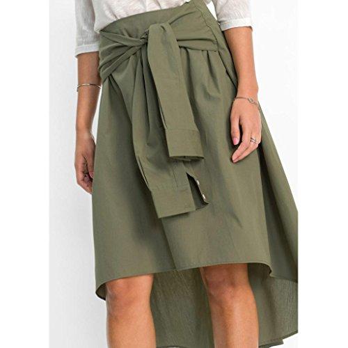 Flared Work Office Skirt Knee ESAILQ Ladies Mini Skirt Length Vert Women Casual Skater pqxwfq