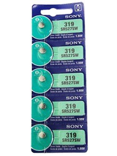 Sony Batería Del Reloj, 1.55V, óxido plata, Pila de Botón 1 Tira