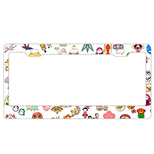 - ArtsLifes Personality license Plate Frame A Collection Of Cartoon 12.25
