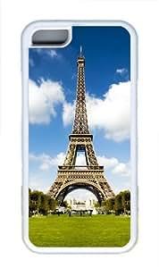 iPhone 5C Case Cover - Symbol Of Paris TPU Back Case for Apple iPhone 5C - White