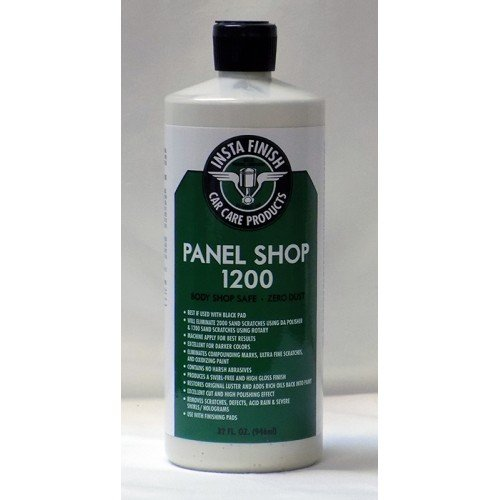 Insta Finish Panel Shop 1200 Body Shop Safe auto Polish Zero dust 32oz